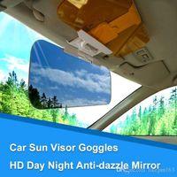 2 in 1-Masken Anti-Glare-Blatt Brille Tag und Nacht HD Blendschutzspiegel Sonnenschutz Klinge