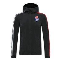 Universidad de Chile football Veste à capuche zippée coupe-vent veste coupe-vent le football des hommes de Top sweat à capuche zippée sport Vestes en cours