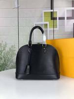 2019 neue Designer Damen Handtasche Hohe Qualität Leder Handtasche 5 Farbe Wasser Wellige Umhängetasche Alma PM Patent Handschalenbeutel