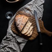 Acacia Разделочные блоки Ретро Пицца Суши Хлеб лоток для поддонов с ручкой разделочная доска Whole Food Вуд плиты кухонные принадлежности