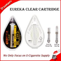 Hot Eureka Clear Carts Vape Cartridge 1.0ml 1 grammo Ceramic Coil Press In Screw In Tip 510 Olio denso Vapor Tank Atomizer