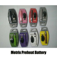 Metrix Pré-aqueça Bateria Kit Blister 650 mAh Vértice Pré-aquecimento Tensão Variável VV Bateria Carregador USB Caneta Vape Para 510 Cartuchos De Óleo De Espessura