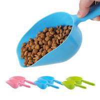 الكلب معاول الحيوانات الأليفة البلاستيك الطاعم متعدد الألوان المحمولة القط المواد الغذائية سكوب الأشياء بأسمائها الحقيقية صديقة للبيئة غير سامة مستلزمات الحيوانات الأليفة XD22887