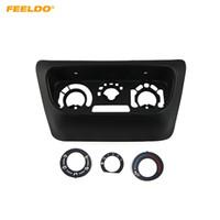 FEELDO voiture Accessoires de contrôle AC Frame Panel Adaptateur pour Mitsubishi Lancer IX Control Center ABS Fascias Panneau # 6090