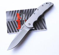 높은 품질 커쇼 3655 소매 상자 OEM 옵션 1730 년대 1,555t 6074 갈색 캠핑 나이프 전술 접는 칼을 보조