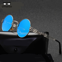 Umanco Classic Round Steampunk Sunglasses Donna Uomo Vintage Fashion Metal Frame Occhiali da sole 2018 New Style Shades Occhiali da sole