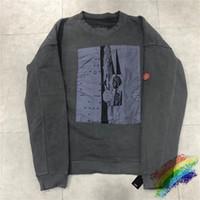CAVEMPT Tişörtü Erkekler Kadınlar Retro Do Eski HOODY Tişörtü CAV empt Kazak Streetwear Coats T200319 Yıkanmış