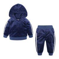 Детские наборы толстовки с длинным рукавом Детская одежда для мальчиков 24M-7T