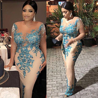 Novo Aso Ebi Estilo Pron Pageant Vestidos Com Borla Plus Size Africano Rendas Nigerian Lantejoulas Trompete Ocasião Evening Wear Dress