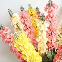 Моделирование цветок гиацинта Букет цветок шелкового 7 Цвет Гостиная Украшение Спальня Главная Свадебные украшения стены цветок