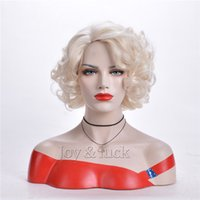 Joy&luck Short Curly Synthetic Wigs for Women 613 Blonde Col...