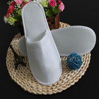 Sıcak Satış-300pc = 150pair unisex bir kerelik çizik atılabilir ayakkabı ev kapalı beyaz sandalet otel babouche taşınabilir seyahat # Z198 terlik