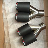 двойной Inlet63mm-outlet89mm для АК углеродного волокна выхлопного наконечника выхлопной трубы глушителя