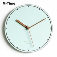 벽시계 나무 시계 현대적인 디자인 거실 흰색 침묵 홈 노르딕 어린이 장식 시계 미니멀리스트