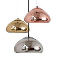 الحديث مطلي زجاج مصباح قلادة كروم النحاس الذهب زجاج غلوب جولة قلادة الأنوار الكرة لغرفة الطعام