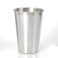 16OZ الفولاذ المقاوم للصدأ البيرة الزجاج في الهواء الطلق المحمولة كأس المعدنية 500ML الصغيرة النبيذ كؤوس الشرب فندق أواني شحن مجاني