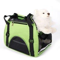 Verde S Size Colapsible Pet Handbag Stripe Rodada Ponto Padrão Cão Carrier Ventilação Bolsa De Filhote de Filhote de Ventilação Para Viagem Ao Ar Livre Único Ombro