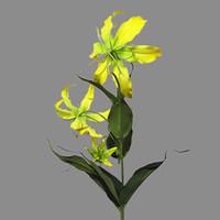 لهب الزنبق واحدة فرع الزهور الاصطناعية لوهمية الرئيسية الطرف الديكور زفاف عيد الميلاد الحرير الزهور التصوير الديكور