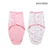 100% Baumwolle Baby-Schlafsack Karikatur druckt Schlafsack Kinderwagen Schlafsack Baby-Swaddle Blankets 2 Packungen