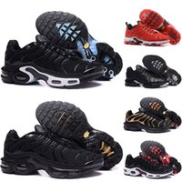 classic fit 69a42 4dac3 nike air max TN shoes Top Qualité Hommes Respirant Running Chaussures hommes  triple blcak rouge bleu