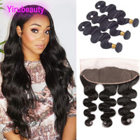 Brazilian Virgin Hair 13x4 Lace Frontal And Bundles Body Wav...