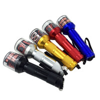The latest 4x1.45cm5 color aluminum alloy electric metal smoker Creative manual flashlight gift boxed grinder spot free shipping