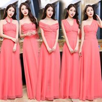 Country Bridesmaid Dresses Long Chiffon Convertible Dresses ...