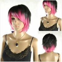 Plus d'informations sur les dernières nouvelles perruques courtes dames noires et roses (tels que des perruques réelles)