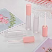 5 / 5ml 100pcs Vaciar Gloss Lip Balm tubo del recipiente de color rosa, lápiz labial líquido Tubos, bricolaje cosmética de maquillaje de la herramienta, protector labial lápiz labial, G