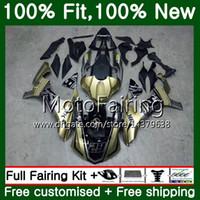 Injection Body For YAMAHA YZF R1 1000 YZFR1 15 16 17 101MF8 YZF-1000 Golden black YZF R 1 YZF1000 YZF-R1 2015 2016 2017 Fairing Bodywork