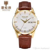 les hommes des montres de luxe des hommes de luxe haut marque mode montre à quartz montres en acier argenté cadran bleu outils pour relogio masculino horlogerie / ss BRW