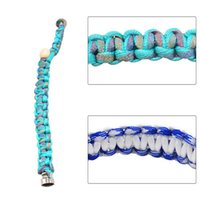 New Bracelet Luminous Pipe Camo Hand- woven Metal Pipe Bracel...