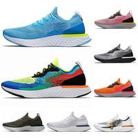 Epik Git Fly Örme Bayan Erkek Erkek Kadın Atletik Spor ayakkabılar Boyutu 5-11 için ayakkabı Anında Nefes Rahat Sport Koşu Tepki