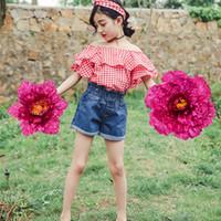 Crianças Dança Props Flores Guarda-chuva Crianças Dança Desempenho Simulado Peônia Flor Feitas À Mão Diâmetro Tamanho Handspike Peônias 67 62sy L1
