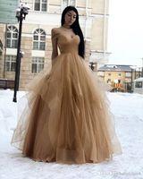볼 가운 골드 얇은 명주 그물 새로운 댄스 파티 드레스 긴 저렴한 2019 새로운 우아한 이브닝 공식적인 드레스 가운 드 칵테일 파티 성인식 드레스