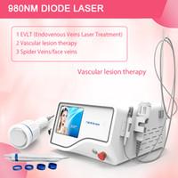 30wat nuevo 980nm disign diodo láser de eliminación de máquina removel vascular láser de diodo de 980 nm vena de capilares rotos en la cara