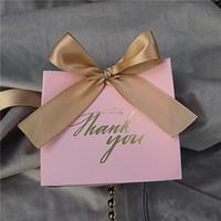 شكرا مطبوعة PINK كاندي حقيبة صندوق للتجهيزات صالح هدية الديكور / حزب الحدث / عرس الحسنات علب الهدايا