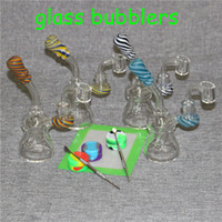 Recycler Oil Rigs small Bong Mini Glass Bongs Smoking Pipes Heady Dab Rig Glass Water Pipe with 4mm Thick Quartz Banger