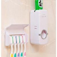 Teethbrush Squeeze Titular dentífrico Machine 2 banheiro Pieces Set Família Wall Mount teethbrush armazenamento Titular Banho Acessórios WY493Q