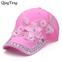 3D Flower Women Ponytail Baseball Cap Summer Messy Bun Cap F...