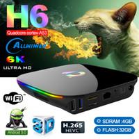 Q-زائد الروبوت 9.0 OTT TV TV BOX ALLWINNER H6 الذكية صندوق 4GB + 32GB مع 2.4G WIFI PK X96 الهواء