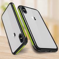 Limpar phone case para iphone 6 6 s 7 8 plus x xr xs max grau militar anti-queda transparente tpu macio tampa traseira para samsung a8 s8 s9 nota 9