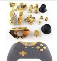 2019 Piezas de repuesto Reparación Cromado dorado ABXY Dpad Triggers Botones completos Juego de controladores Mod Mod para Xbox One XboxONE 16pcs / set
