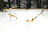 New Rectangle Gold Glasses Frame Fashion Sunglasses Frame Op...
