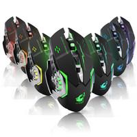 Mouse sem fio 7 Cor Glow Gaming Mouse 2.4G Transmissão sem fio Frequência 2000dpi Photoeltric Resolution Ratos para tablet laptop