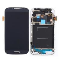 LCD original para Samsung Galaxy S4 i9500 i9505 Display con pantalla táctil marco de la Asamblea digitalizador reparación de piezas de reemplazo