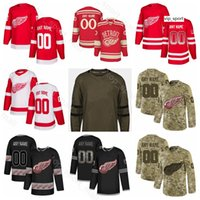 Detroit Red Wings Hóquei Anthony Mantha Jersey Justin Abdelkader Thomas Vanek Pavel Datsyuk Luke Glendening Exército Sault Para Serviço Personalizado