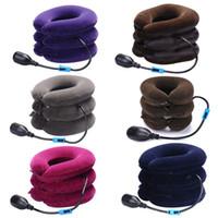 Подушка U-образный вырез воздуха надувная шейное шейное дымяное плечо боли ослабляют ослаблять массажер PVD подушка