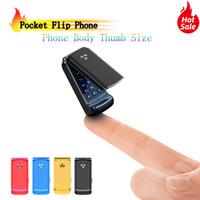 Sbloccato più piccolo flip del cellulare Ulcool F1 intelligente anti-perso GSM Bluetooth Dial della mini tasca di sostegno portatile del telefono mobile regalo per i bambini
