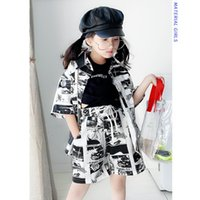 Teenage hip hop dance clothes Unisex baby boy and girls prin...
